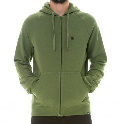 ICON EMBROIDERY ZIP VERDE MILITAR